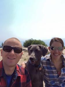 Smokey day for Toby, Ryan, and Brittany