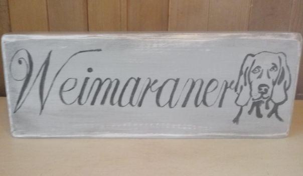 weimaraner sign